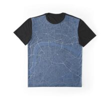 LONDON MAP, BLUE Graphic T-Shirt