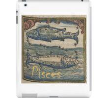 Pisces Woodcut iPad Case/Skin