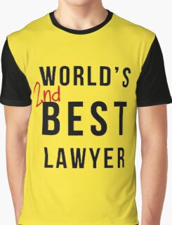 World's 2nd Best Lawyer Graphic T-Shirt
