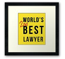 World's 2nd Best Lawyer Framed Print