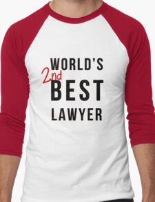 World's 2nd Best Lawyer Men's Baseball ¾ T-Shirt