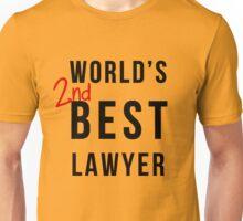 World's 2nd Best Lawyer Unisex T-Shirt