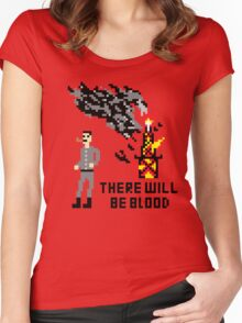 There Will Be Blood Pixel Women's Fitted Scoop T-Shirt