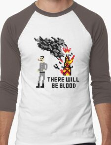 There Will Be Blood Pixel Men's Baseball ¾ T-Shirt