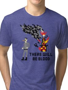 There Will Be Blood Pixel Tri-blend T-Shirt