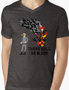 There Will Be Blood Pixel Mens V-Neck T-Shirt