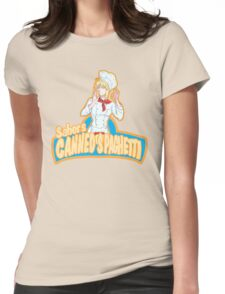 Saber's Canned Spaghetti  Womens Fitted T-Shirt