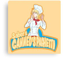 Saber's Canned Spaghetti  Canvas Print