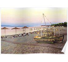 Greece Sunset Poster