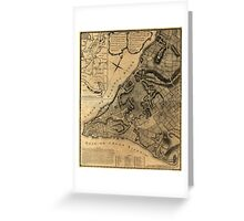 American Revolutionary War Era Maps 1750-1786 224 A plan of the city of New York & its environs to Greenwich on the North or Hudsons River and to Crown Point Greeting Card