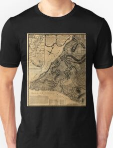 American Revolutionary War Era Maps 1750-1786 224 A plan of the city of New York & its environs to Greenwich on the North or Hudsons River and to Crown Point Unisex T-Shirt