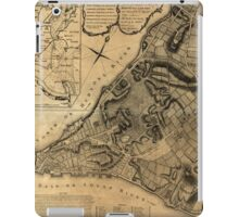 American Revolutionary War Era Maps 1750-1786 224 A plan of the city of New York & its environs to Greenwich on the North or Hudsons River and to Crown Point iPad Case/Skin