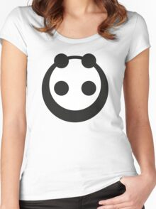 A most minimalist Panda Women's Fitted Scoop T-Shirt