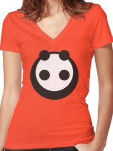 A most minimalist Panda Women's Fitted V-Neck T-Shirt