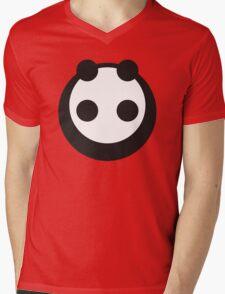 A most minimalist Panda Mens V-Neck T-Shirt