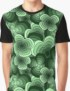 Pattern - Four Leaf Clover Graphic T-Shirt