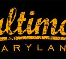 Baltimore Maryland Classic Vintage Sticker