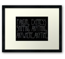 Fangirl Express Framed Print