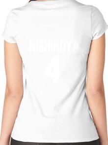 Haikyuu!! Jersey Nishinoya Number 4 (Karasuno) Women's Fitted Scoop T-Shirt