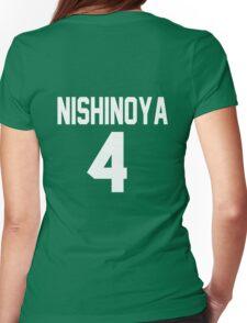 Haikyuu!! Jersey Nishinoya Number 4 (Karasuno) Womens Fitted T-Shirt