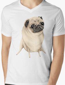 Sweet Fawn Pug Mens V-Neck T-Shirt