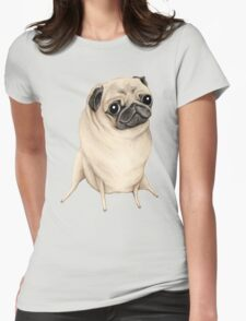 Sweet Fawn Pug Womens Fitted T-Shirt