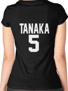 Haikyuu!! Jersey Tanaka Number 5 (Karasuno) Women's Fitted Scoop T-Shirt