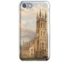 English School (19th Century), Parish church with the congregation departing iPhone Case/Skin