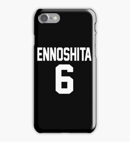 Haikyuu!! Jersey Ennoshita Number 6 (Karasuno) iPhone Case/Skin