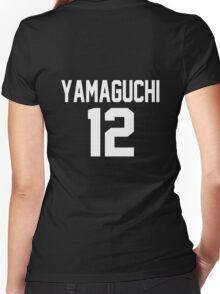Haikyuu!! Jersey Yamaguchi Number 12 (Karasuno) Women's Fitted V-Neck T-Shirt