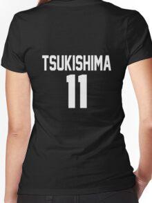 Haikyuu!! Jersey Tsukishima Number 11 (Karasuno) Women's Fitted V-Neck T-Shirt