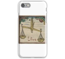 Libra 16th Century Woodcut iPhone Case/Skin