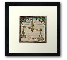 Libra 16th Century Woodcut Framed Print