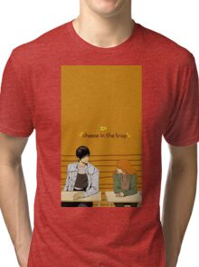 Cheese In The Trap Caricature Tri-blend T-Shirt