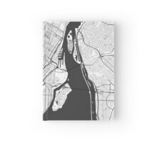 Montreal Map Gray Hardcover Journal