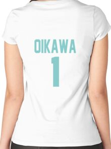 Haikyuu!! Oikawa Jersey Number 1 (Aoba) Women's Fitted Scoop T-Shirt