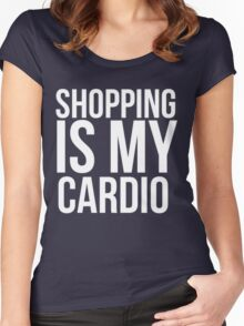 Shopping is my cardio Women's Fitted Scoop T-Shirt