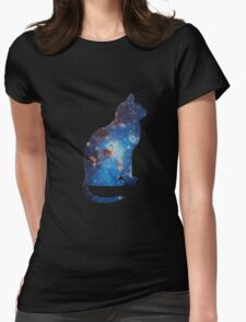 galaxy cat triangle  Womens Fitted T-Shirt