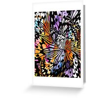 orange butterfly abstract Greeting Card