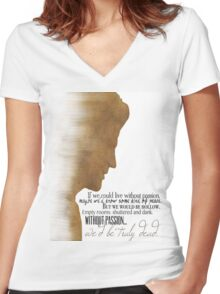 Angelus  Women's Fitted V-Neck T-Shirt
