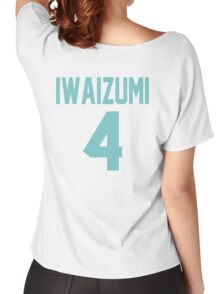 Haikyuu!! Iwaizumi Jersey Number 4 (Aoba) Women's Relaxed Fit T-Shirt