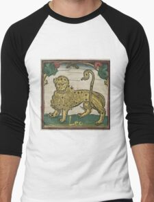 Leo 16th Century Woodcut Men's Baseball ¾ T-Shirt