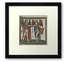 Gemini 16th Century Woodcut Framed Print