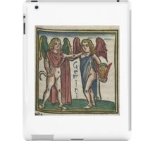Gemini 16th Century Woodcut iPad Case/Skin