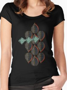 Black Leaves Women's Fitted Scoop T-Shirt