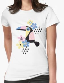 Tropical summer Womens Fitted T-Shirt