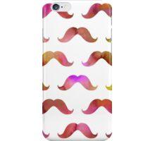 Pink Tie Dye Watercolor Mustache Pattern Mustaches  iPhone Case/Skin
