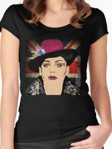 BOY GEORGE  Women's Fitted Scoop T-Shirt