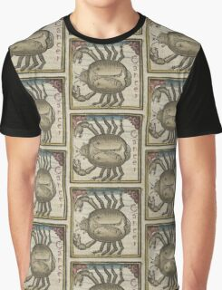 Cancer 16th Century Woodcut Graphic T-Shirt
