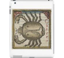 Cancer 16th Century Woodcut iPad Case/Skin